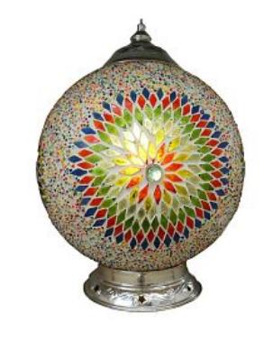 Oosterse lampen mozaiek,marokkaanse,plafonniere,poef - Merel in Wonderland